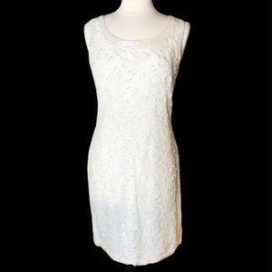 Vintage Beaded and Pearl Dress and Jacket Sz L
